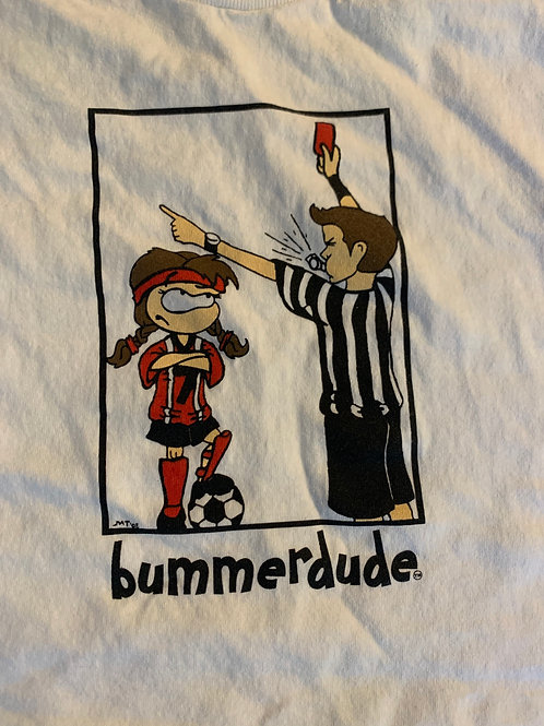 Soccer red card Bummerdude tee (White)