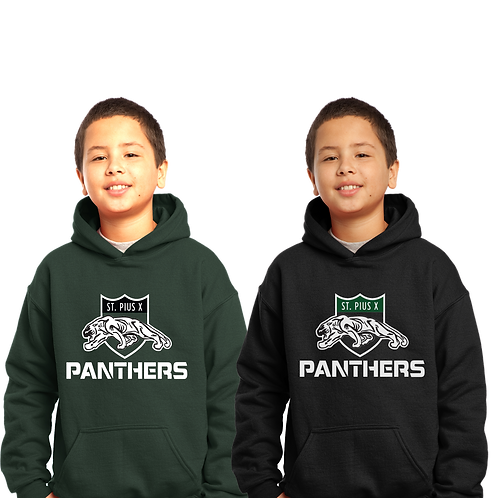 Cotton Hoodie - St. Pius Panthers Logo