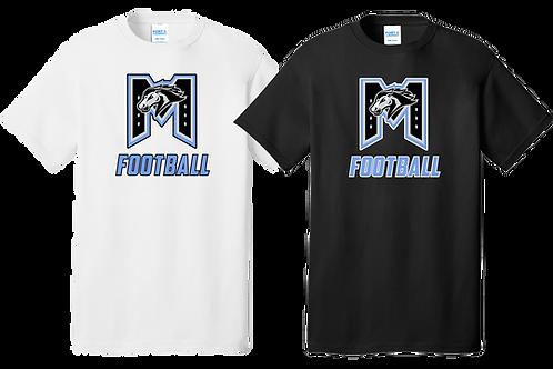 """Cotton Tee - """"M"""" Football"""