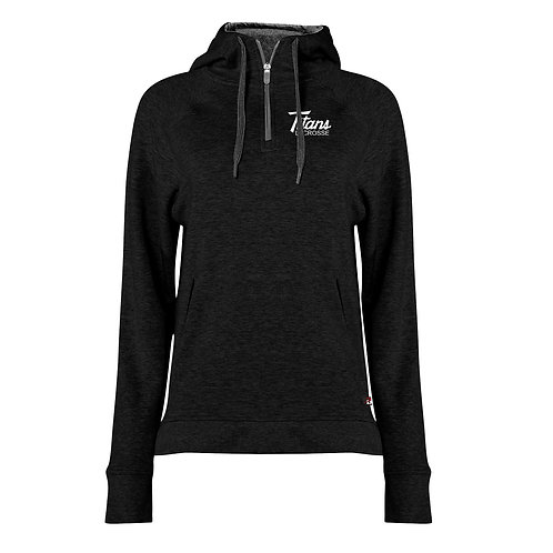 Ladies Badger Fit Flex 1/4 zip Hoodie - Titans Lacrosse