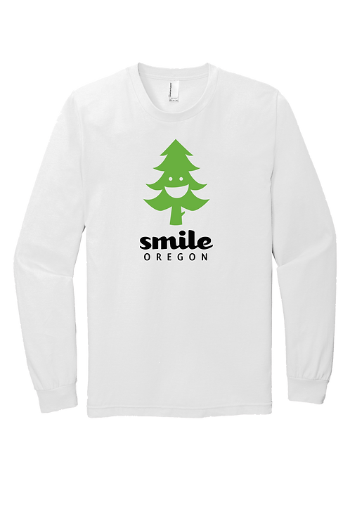 Long Sleeve Men's Cotton Tee - Smile Oregon