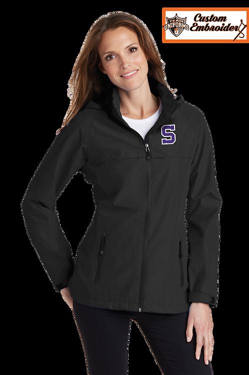 Ladies Waterproof Jacket with Hood - Sunset