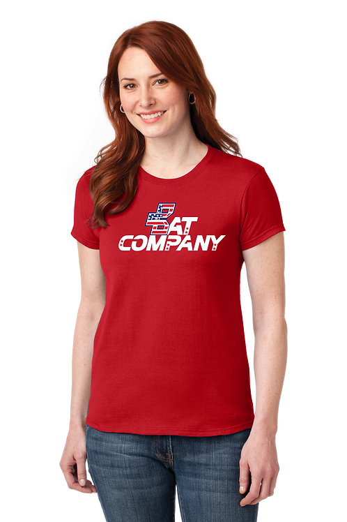 Ladies Bat Company Dry Fit Shirt-Red