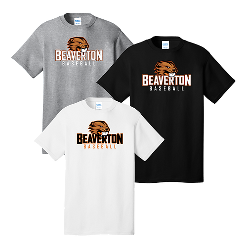 100% Cotton Tee - Beaverton Baseball