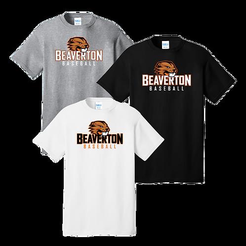 100% Cotton Tee - Beaverton Baseball