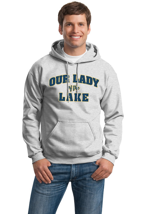 Our Lady of the Lake Cotton Hoodie -Grey