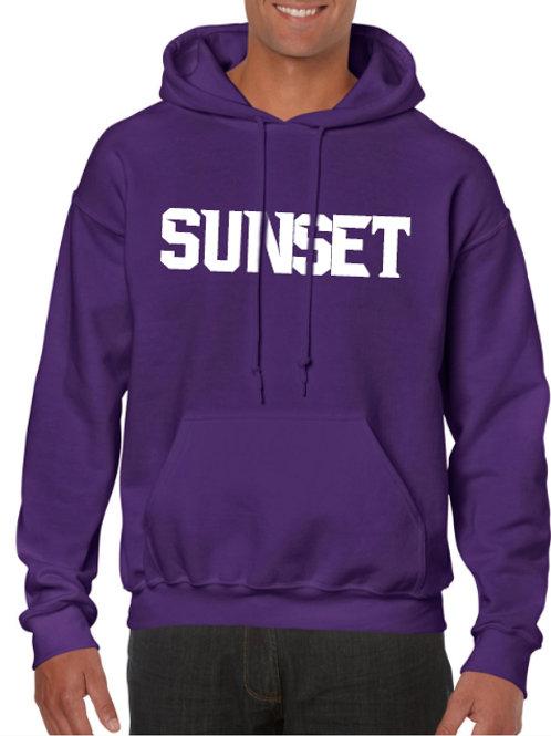 Cotton Blend Hoodie - Sunset