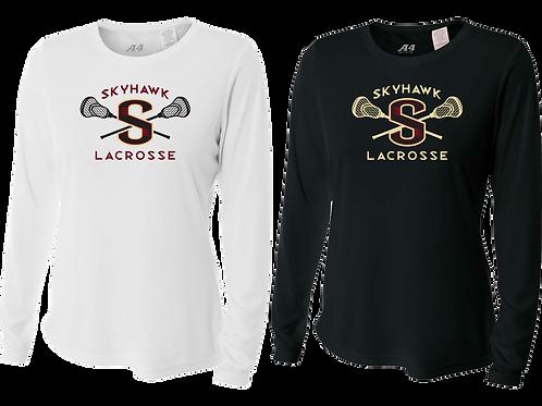 Ladies L/S Dry Fit Shirt - Skyhawk Lacrosse
