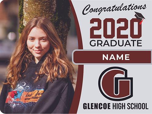 Glencoe High School 2021 Senior Yard Sign