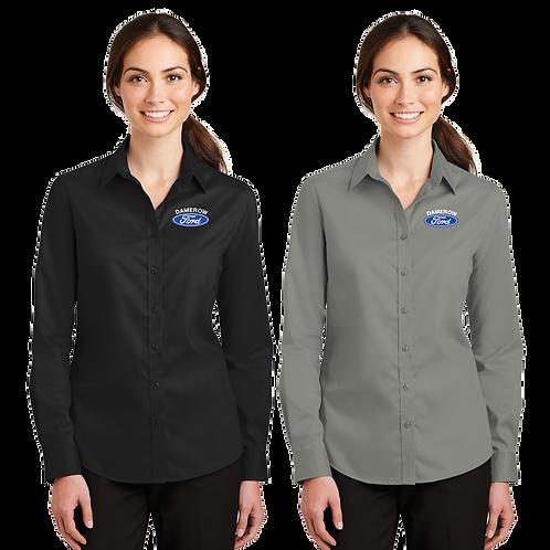 Ladies Long Sleeve Twill Dress Shirt - Damerow Ford