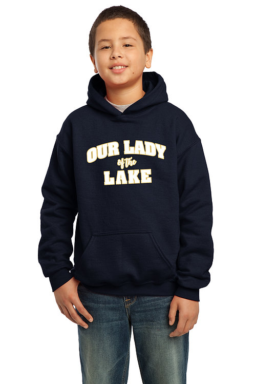 Youth Cotton Hoodie-Navy