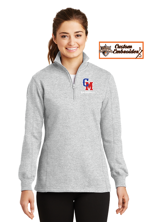 Ladies 1/4 Zip Sweatshirt - New CM logo