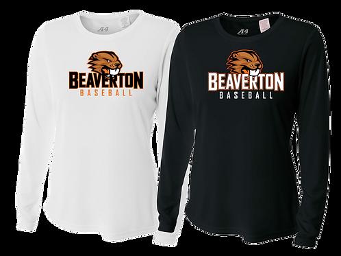 Ladies L/S Dry Fit Shirt - Beaverton Baseball