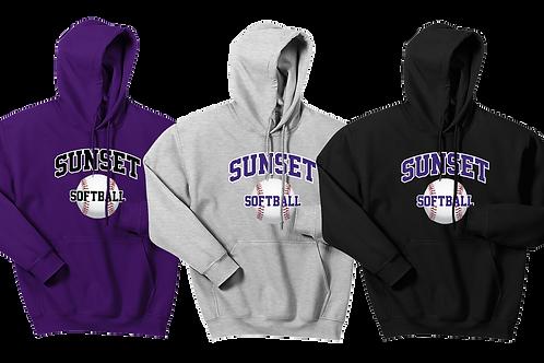 Cotton Hoodie - Sunset Softball