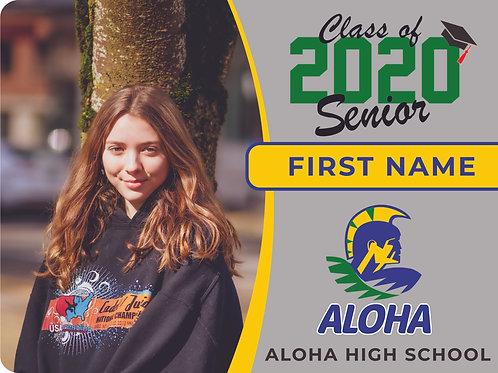 Aloha 2021 Senior Yard Sign