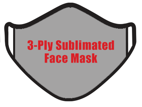 3-Ply Sublimated Face Mask