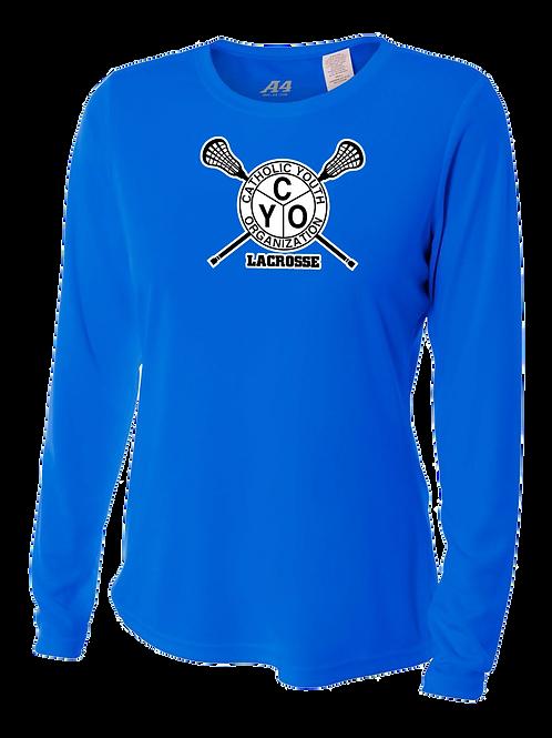 Ladies L/S Dry Fit Shirt - CYO Lacrosse