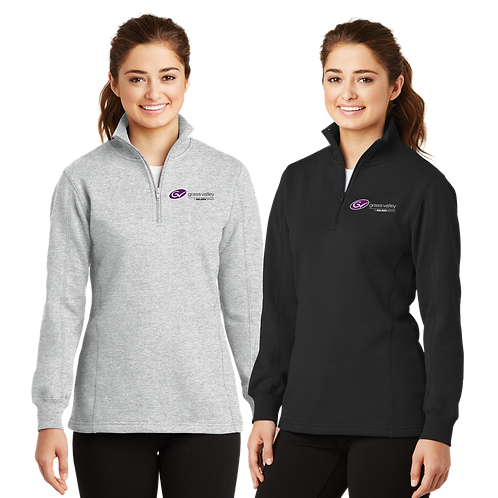 Ladies Fleece 1/4-Zip Sweatshirt - Grass Valley