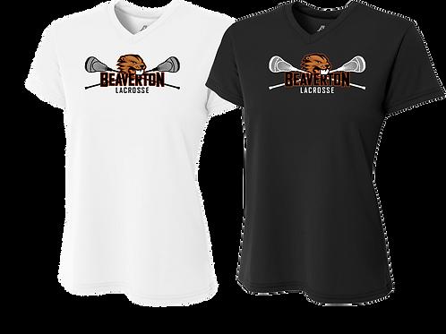 Ladies S/S Dry Fit Shirt - Beaverton Lacrosse