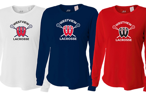Ladies L/S Dry Fit Shirt - Westview Lacrosse