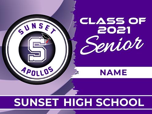 Sunset 2021 Senior Yard Sign