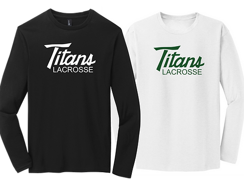 Men's Long Sleeve Cotton Tee - Titans Lacrosse