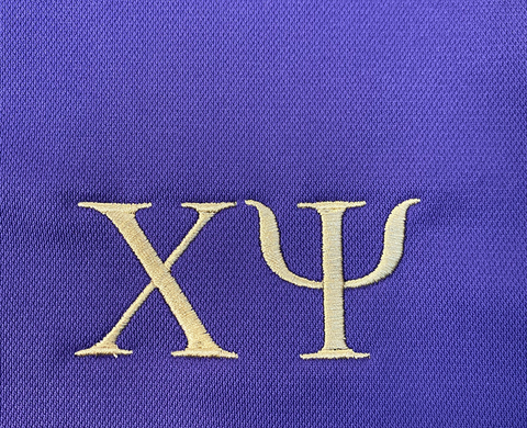 Greek Letters on Nike Polo
