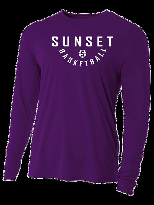 Long Sleeve  Shooting Shirt - Sunset Basketball