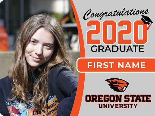 Oregon State University 2021 Senior Yard Sign