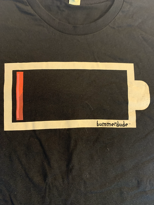 Low battery Bummerdude tee (Black)