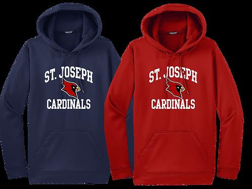 Dry Fit Hoodie - St. Joes Cardinal Sport Logo