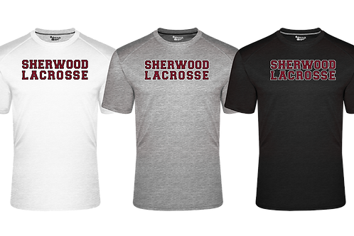Men's Badger Fit Flex S/S Tee - Sherwood Lacrosse Font