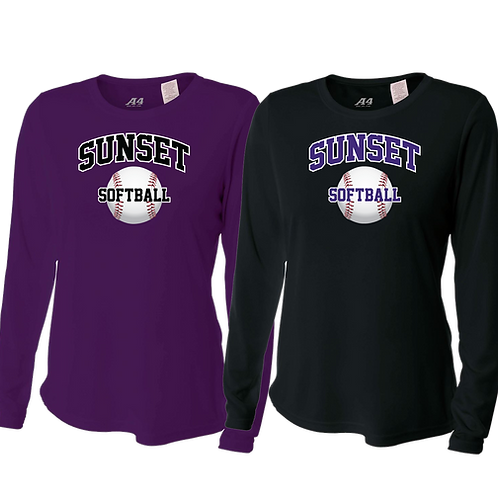 Ladies L/S Dry Fit Shirt - Sunset Softball