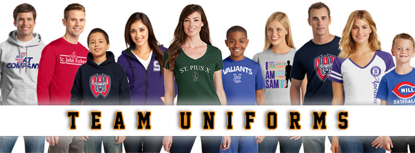 huge discount f0a9d c38b6 Team Uniforms | Team and Fan Apparel with your logo
