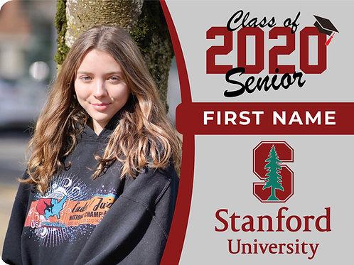Stanford University 2021 Senior Yard Sign