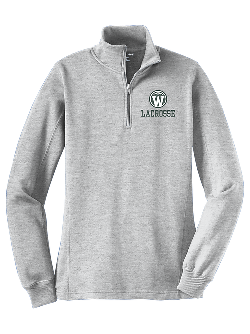 Ladies 1/4 Zip Sweatshirt - Wilson Lacrosse