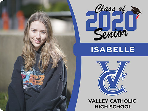 Valley Catholic 2021 Senior Yard Sign