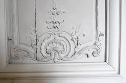 Beautiful engraving on door