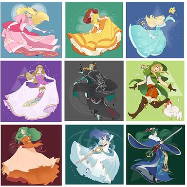Nintendo Princess Gown Series