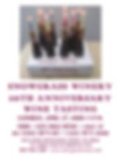SNOWGRASS WINERY 10th anniversary poster