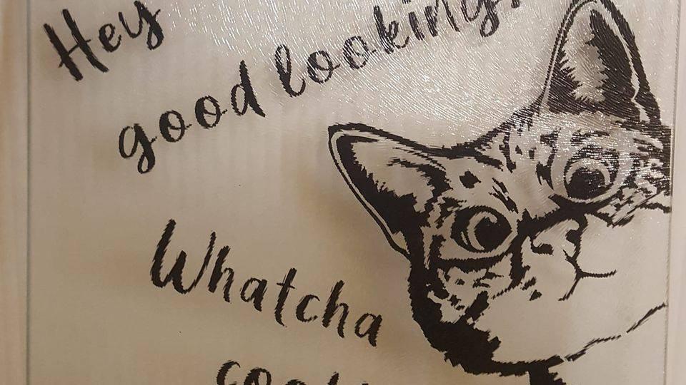 Peek-a-boo Kitty Cutting Board