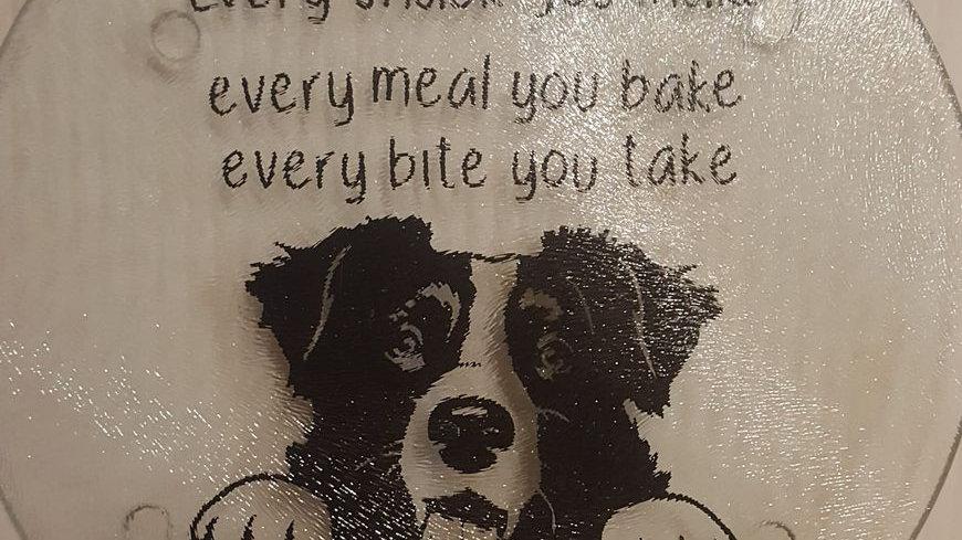 Peek-a-boo Dog Cutting Board