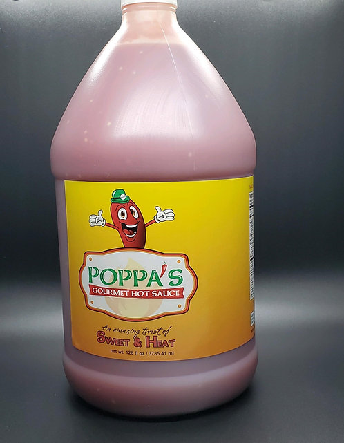 Poppa's Gourmet Hot Sauce Gallon