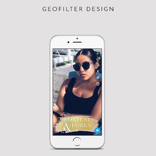 Glitter Chic Snapchat Geofilter