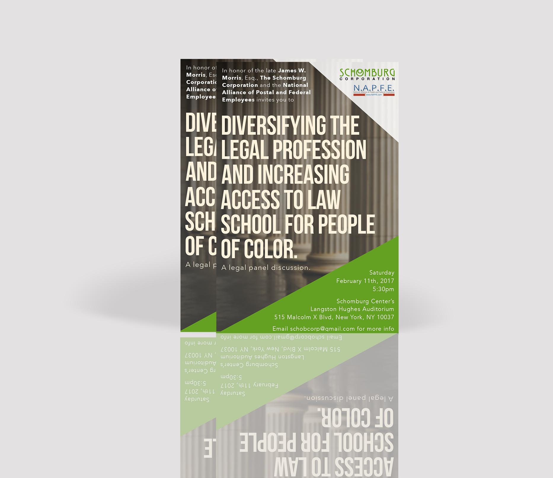 Schomburg Corporation Seminar Flyer Design