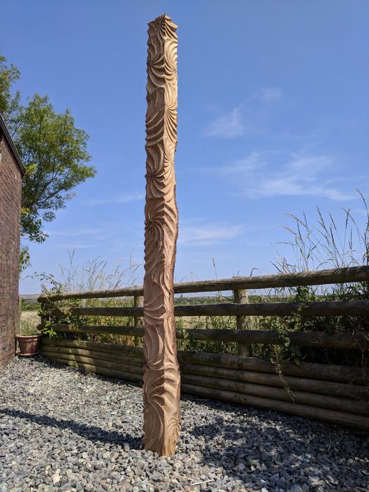 Oak pillar