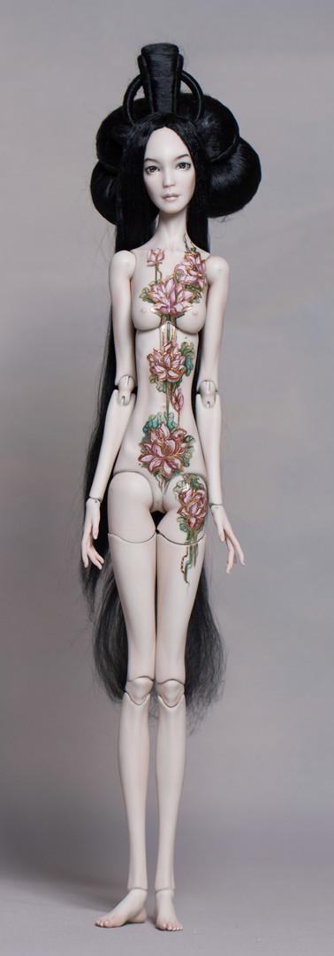 Nude porcelain doll