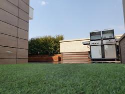 искусственный газон на крыше