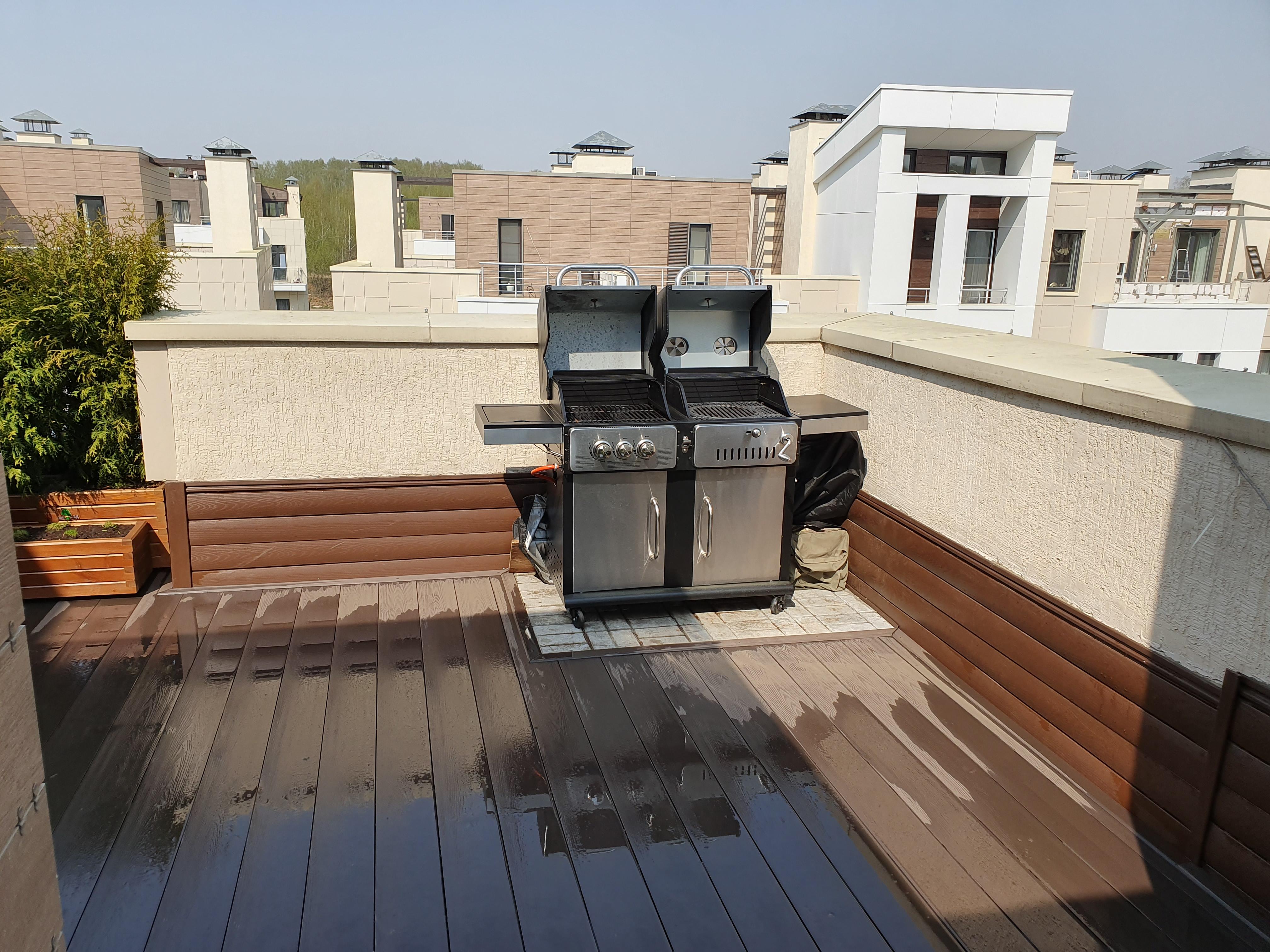 Зона BBQ на крыше