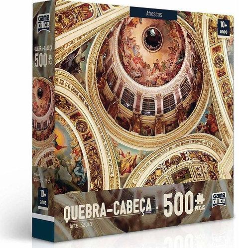 Quebra Cabeça 500 peças - Arte Sacra - Afrescos | Game Office - Toyster